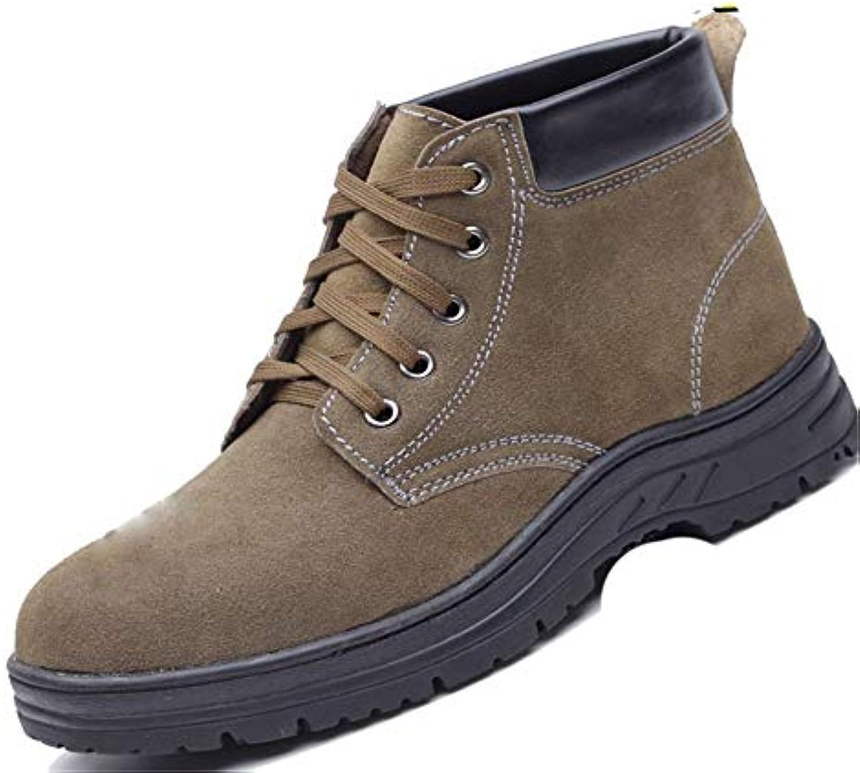 Jincosua Scarpe di assicurazione sul Lavoro per Uomo Scarpe di Sicurezza alla Caviglia Traspiranti e Resistenti...   Design professionale    Uomini/Donne Scarpa