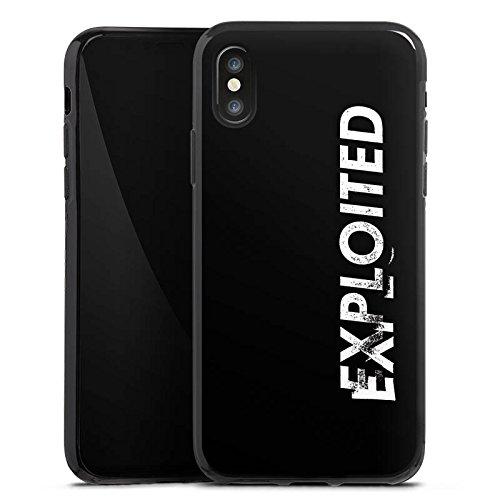 Apple iPhone X Silikon Hülle Case Schutzhülle Techno House Electro Silikon Case schwarz