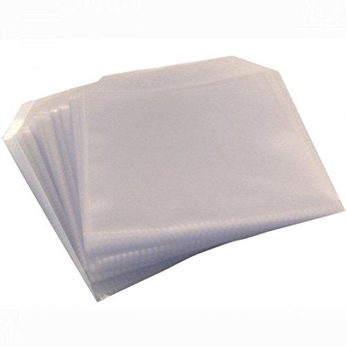 MasterStor, 120Micron CD Hülle DVD-klar Kunststoff Hülle Tasche mit Klappe, CD mit CD- oder DVD CD (300 Count Tasche)