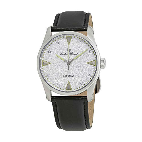 Lucien Piccard Silver Dial Leather Mens Watch 40035-025