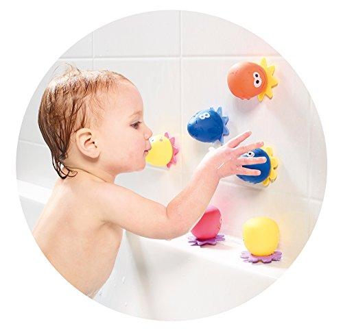"""TOMY Wasserspiel für Kinder """"Okto Plantschis"""" mehrfarbig – hochwertiges Kleinkindspielzeug – Spielzeug für die Badewanne – ab 12 Monate - 3"""