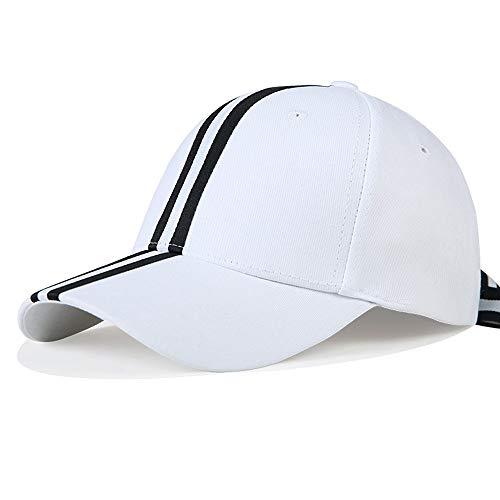 Imagen de lddendp new era  de béisbol rayas negras y blancas hombres y mujeres retro sombrero ajustable casual salvaje sombrero negro top clásico enrejado  de béisbol neutral tendencia de moda pegatin