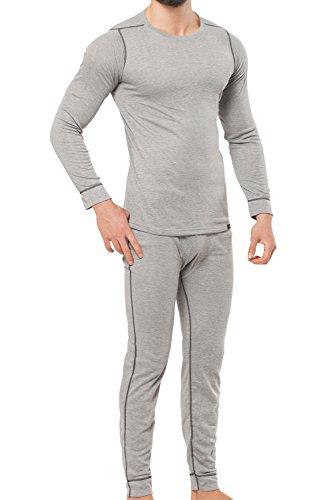 Original cflex Hombre de esquí & térmica Juego de ropa–Camisa + pantalones–polardry Technology–elección de tamaños y colores m XXL–Calidad de celodoro, color Hellgrau / Anthra, tamaño large