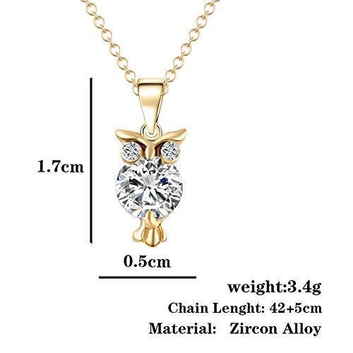Hosaire 1 pcs Halskette Mode Eulen-Form Schmuck Anhänger Necklace Schlüsselbein Kette - 4