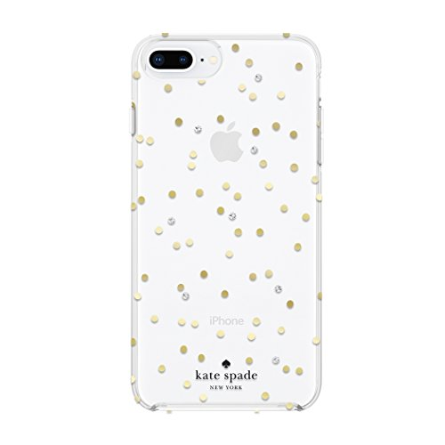 kate spade New York Handy Fall für iPhone 8 Plus/7 Plus/6 PLUS/6S Plus - Multi Scatter Dot Gold mit Gems Kate Spade Spade