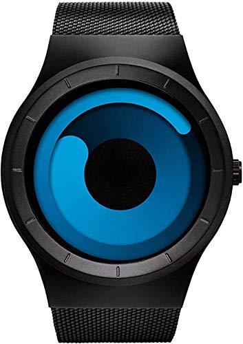 Micacchi Swift Movement Blue Spinner Dial Black Shepard Metal Belt Men Watch & Boys Watches - BLNUON