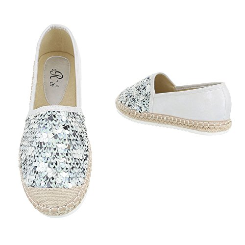 Ital-Design - Low-top Donna Silber 6276-P