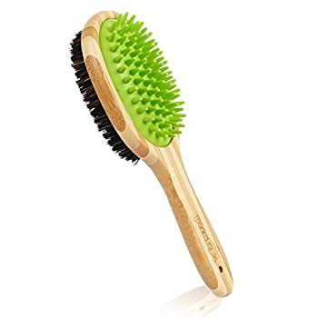 pecute Brosse Chien Chat de Toilettage Massage en Caoutchouc Double Face Brosse de Nettoyage Bain pour Animaux Peigne de Massage Epilateur pour Poils Cheveux Longs Courts