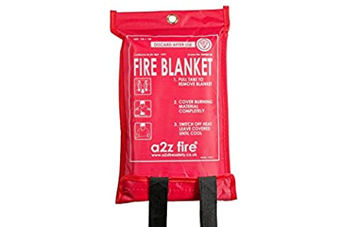 A2Z Fire A2Z1MEFB 1 x 1 m Fire Blanket for Quick Release - Red