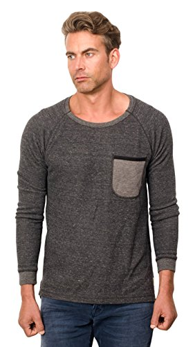 Scotch & Soda Home Alone Long Sleeve Tee, T-Shirt Uomo Grau (Antra Mele 45)