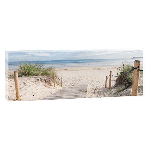 Weg zum Strand 3   Panoramabild im XXL Format   Kunstdruck auf Leinwand   Wandbild   Poster   Fotografie   Verschiedene Formate und Farben (120 cm x 40 cm, Farbig) (Bild-bingo)