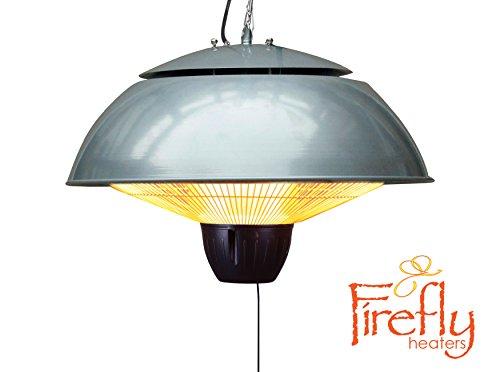 Firefly 1.500 Watt Infrarot-Heizstrahler (Halogen) Terrassenheizung, Deckenmontage, silber - 4