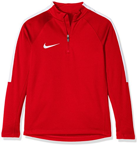 Nike Jungen Squad 17 Drill Top Long Sleeve Youth Trainingstrikot, University Red/White, XS -