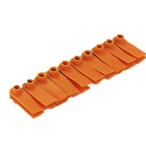 xingbailong Tag per Orecchio Universale plastica Senza Parole per Animali di Capra Pecora Maiale Confezione da 100 Pezzi Colore Arancione