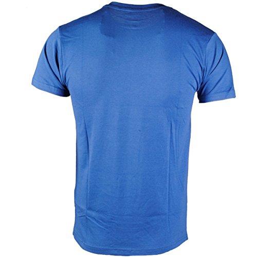 Herren Soulstar Lucko Kurzärmelig T-shirt Lucky 7 Dice Rolle Abschlag Zu Drucken Top Königsblau