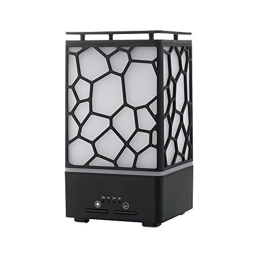 Oasics Luftbefeuchter, Luft Aroma ätherisches Öl Diffusor Ultraschall LED Aroma Aromatherapie Luftbefeuchter für Jungen und Mädchen als Geschenk (schwarz) -