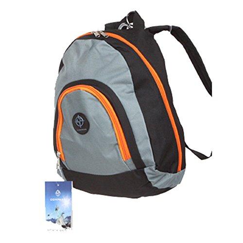 Friedndz Trendz-Carry -Elegante viaggio triangolare bagagli Daypack zaino Bagpack (black/grey) black/grey