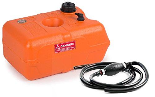 wellenshop Benzintank Bootstank 22 Liter mit Pumpball und Benzinschlauch 2,15 m, mit Tankanzeige