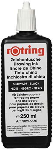 Rotring - Botella de tinta china (250 ml), color negro