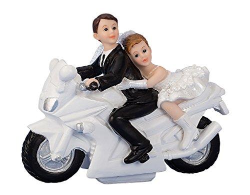 Hochzeitspaar auf Motorrad Hochzeit Figur ca. 12cm x 15cm