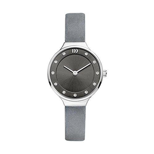 Danish Design Women's 26mm Grey Leather Band Steel Case Quartz Analog Watch IV14Q1181