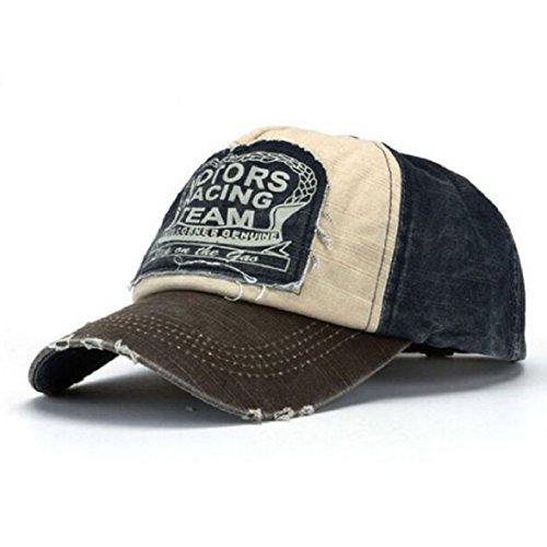 amison-unisex-baseball-cap-cotton-motorcycle-cap-edge-grinding-do-old-hat-coffee-navy-blue