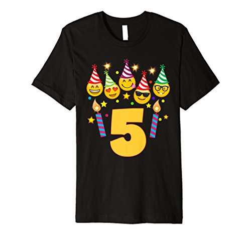 Emoji Birthday Shirt For 5 Five Year Old Girl Boy Toddler