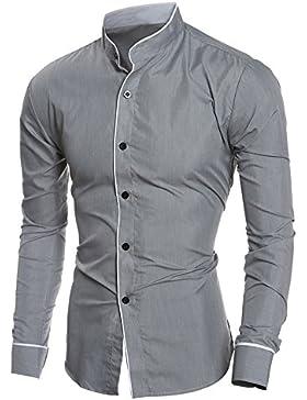 Italily -Moda Elegante Camicia, Uomo Casual Camicia Slim Fit,Camicetta A Maniche Lunghe Camicia Casual Uomo Maniche...