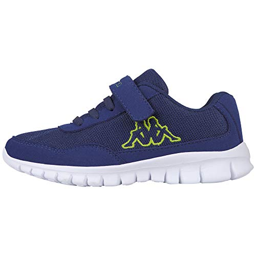 Kappa Unisex-Kinder Follow Kids Sneaker, Blau (6033 Blue/Lime), 28 EU