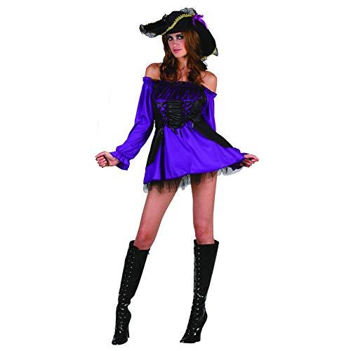 Reír Y Confeti - Fibpir033 - Para adultos traje - Princesa del pirata Traje - Mujer - Talla M