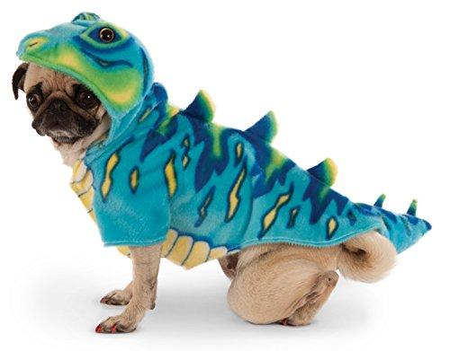 ny blau Dino Hoodie für Pet (Hund Dino Kostüme)