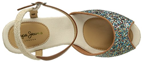 Pepe Jeans Shark Shine, Espadrilles femme Turquoise (517 Lt Turquoise)