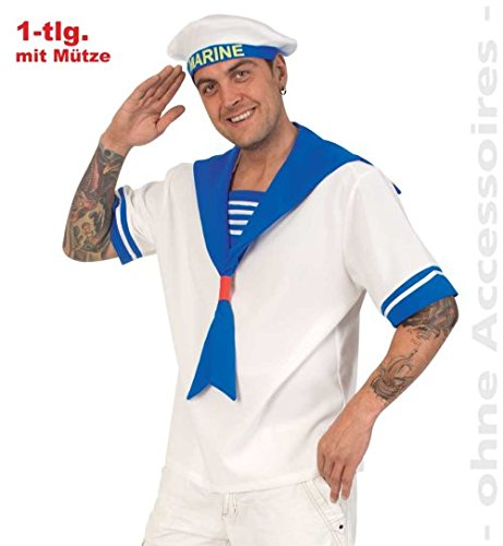 Matrosenhemd mit Mütze L Oberteil Matrose Shirt Hemd