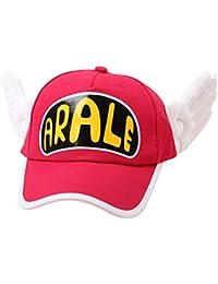 Arale Cap, KOBWA Adorable Gorra Ajustable, Cartoon Hat, Rojo