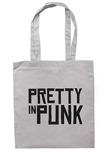 Breadandbutterthreads Pretty in punk borsa 37.5cm x 42cm con manici lunghi Light Grey
