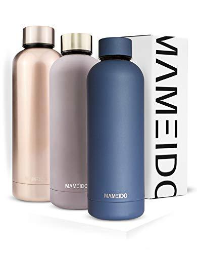 MAMEIDO Trinkflasche Edelstahl - Indigo Blau - 500ml,0,5lThermosflasche - auslaufsicher, BPA frei -schlankeisolierte Wasserflasche,leichtedoppelwandige Isolierflasche