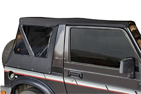 Rampage Jeep 98535 Soft Top, Replacement Plus, 1986-1994 Suzuki Samurai, Black Diamond with Zippered Tinted Windows by RAMPAGE PRODUCTS