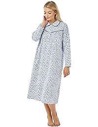 68977d6be6 Marlon Winceyette Nightdress 100% Cotton Soft   Warm Nightie Size 8 to 26  Nightdresses