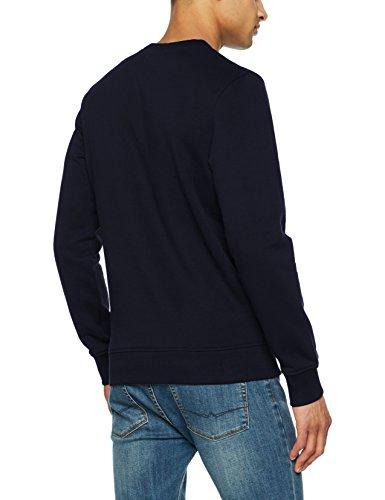 JACK & JONES Herren Sweatshirt Blau (Total Eclipse Fit:Reg Crew)
