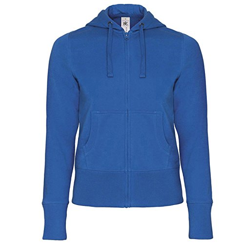 B&C Collection Damen Modern Kapuzenpullover Gr. L, königsblau (Shorts Heavyweight Denim)
