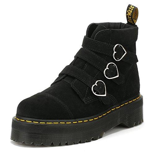 Dr. Martens Womens Lazy OAF Black Buckle Boots-UK 6 (Buckle Boots Suede Black)