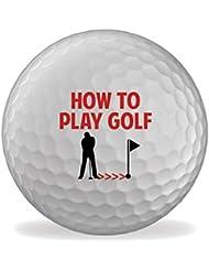 How To Play Golf 6 X Printed Bolas De Golf