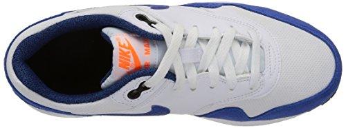 Nike Air Max 1 (Gs), Nike Air Max 1 GS black cool grey white 555766 043 homme White/Game Royal-Total Orange-Black