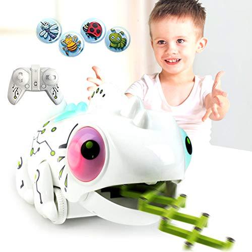 Daxoon Ferngesteuerter Roboter für Kinder, Smart Roboter mit Coole Chameleon Form mit 2.4G RC Farbwechsel LED,Sehr gut Interaktives Spielzeug Geschenk Für Mädchen Jungen(MIT 4 x Insekten) -