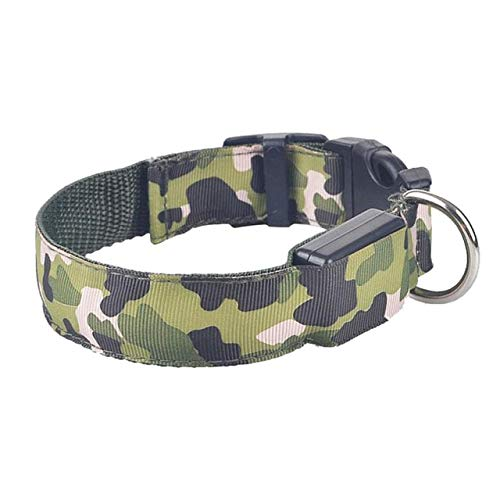 dfhdfsg Camouflage Night Flash Pet Dog Led Collar Adjustable Dog Collar Dog Collar Necklace Electric Pet Supplies