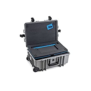 B&W outdoor.cases type 6700 Case for photographer with padded divider system (RPD) and lid pocket for Mac Book - The Original