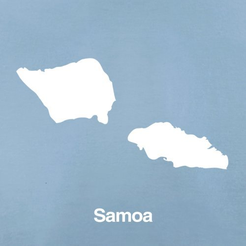 Samoa / Unabhängiger Staat Samoa Silhouette - Herren T-Shirt - 13 Farben Himmelblau