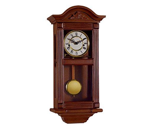 Pendeluhr Wanduhr mit Pendel, Quarz, Uhr mit Glockenspiel, Maschinen Carrillon Melodia 66cm gratis Versand