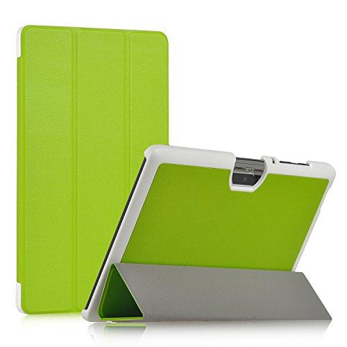 Acer Iconia One 10 B3-A30 Hülle, IVSO® Ultra Schlank Superleicht Ständer Slim Leder zubehör Schutzhülle Only für Acer Iconia One 10 (B3-A30) 25,7 cm (10,1 Zoll HD) Tablet-PC perfekt geeignet, Grün