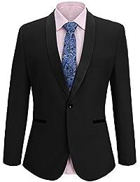 FISOUL Veste Blazer Homme Costume d Affaire Costume Châle Rever Un Button  Tuxedo Slim Fit 55ca3775852